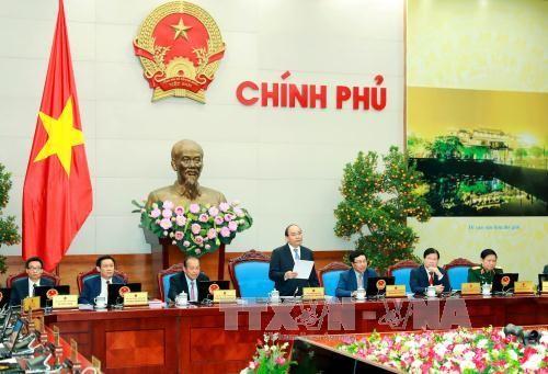 越南政府颁布1月例会决议 - ảnh 1