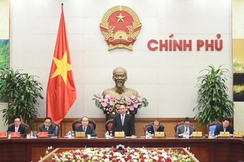 阮春福主持与越南祖阵委员会的座谈 - ảnh 1