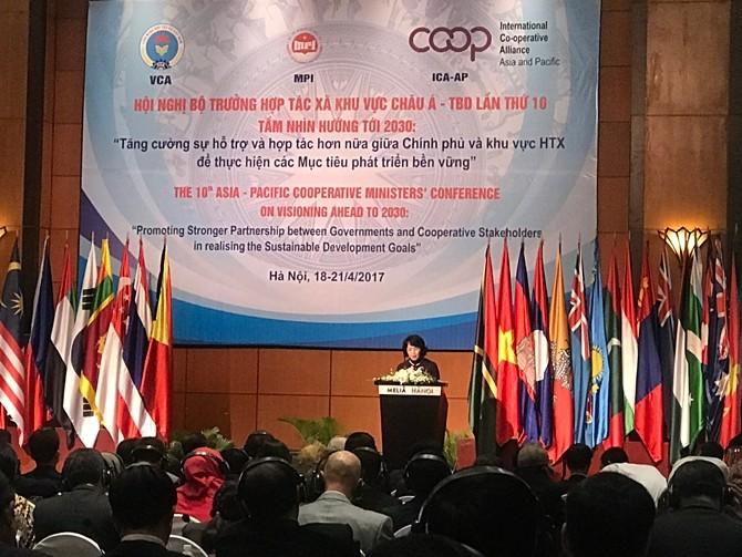 第十届亚太地区政府合作社部长会议在河内开幕 - ảnh 1