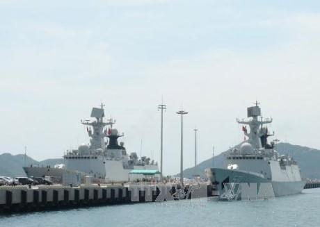 中国人民解放军海军舰艇编队对越南进行正式友好访问 - ảnh 1