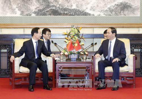 越南国家主席陈大光会见中国全国政协副主席王家瑞 - ảnh 1