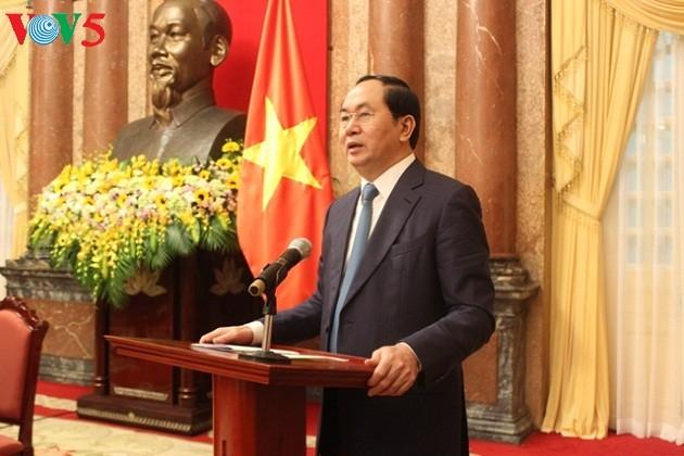 越南国家主席陈大光接受俄罗斯和白俄罗斯媒体专访 - ảnh 1