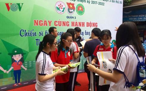 胡志明市团市委举行绿色行军夏季青年志愿者活动出征仪式 - ảnh 1