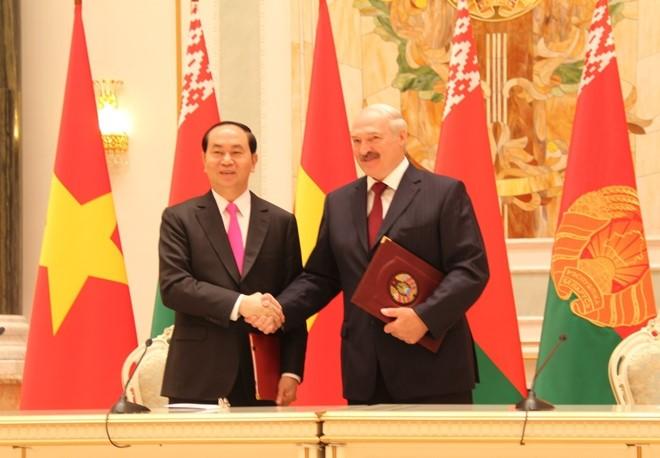 越南-白俄罗斯发表联合声明 - ảnh 1