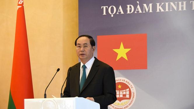 陈大光与卢卡申科主持越白经济座谈会 - ảnh 1
