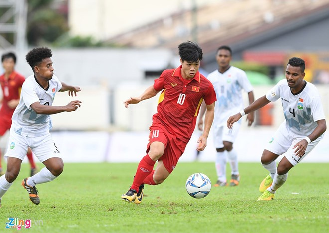 第29届东南亚运动会:越南U22足球队4比0战胜东帝汶 - ảnh 1