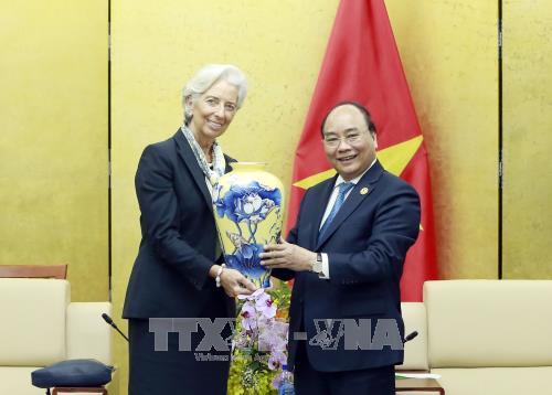 阮春福会见国际货币基金组织总裁拉加德 - ảnh 1