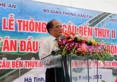 Le Président de l'AN à l'inauguration du pont Ben Thuy  - ảnh 1