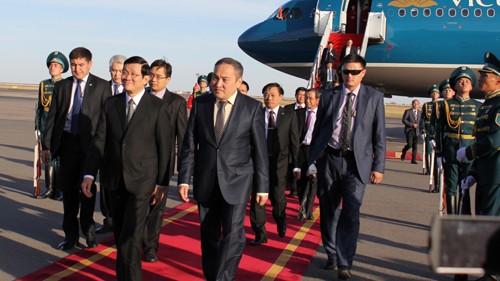 Visite de Truong Tan Sang au Kazakhstan: Publication de la Déclaration commune - ảnh 1