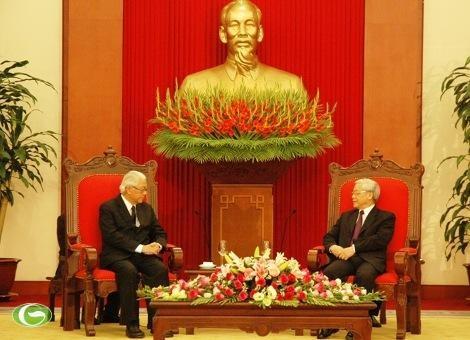 Le Secrétaire général du PCV s'entretient avec le Président singapourien  - ảnh 1