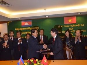 Accord de coopération entre la Voix du Vietnam et la Radio nationale du Cambodge - ảnh 1