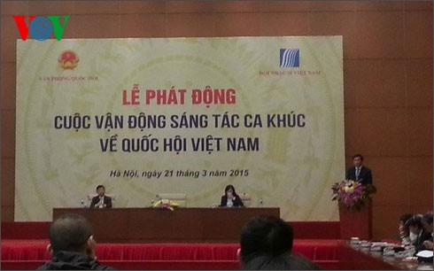 Song writing contest about Vietnam's National Assembly launched - ảnh 1