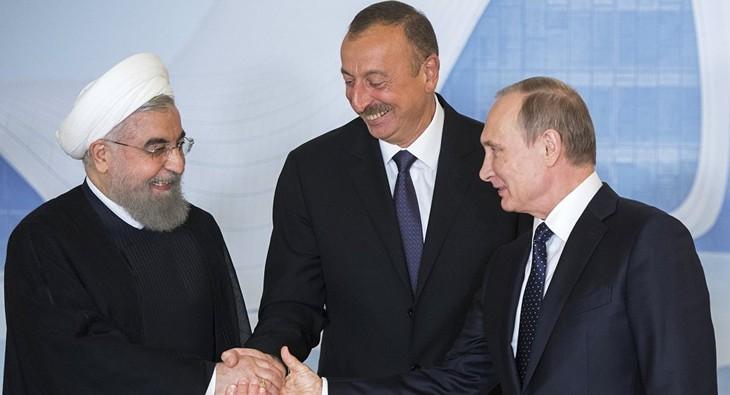 Russia, Iran, Azerbaijan summit issue joint declaration  - ảnh 1