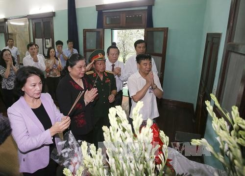 National Assembly Chairwoman pays tribute to late President Ho Chi Minh  - ảnh 1