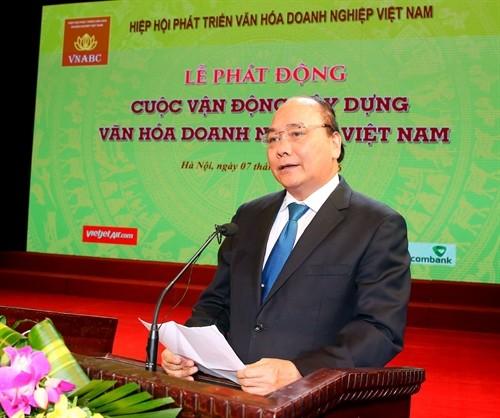 PM urges to build corporate culture  - ảnh 1