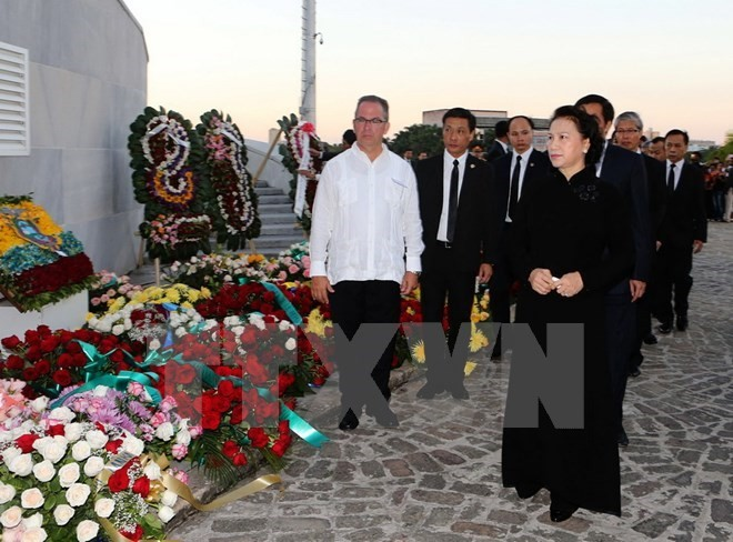 Vietnam's Party and State leaders pay tribute to Fidel Castro  - ảnh 1