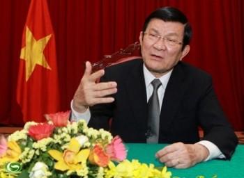 Presiden Truong Tan Sang melakukan temu kerja dengan Badan Harian Komite Rakyat kota Hanoi - ảnh 1