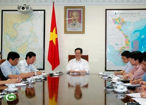 PM Nguyen Tan Dung melakukan temu kerja dengan pimpinan provinsi Lai Chau - ảnh 1