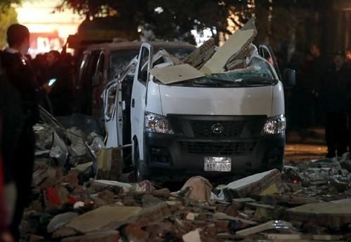 Sepuluh orang yang tewas dalam serangan bom di dekat Kairo, ibukota Mesir - ảnh 1
