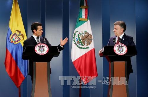 Mexico, Colombia sign cooperation agreements - ảnh 1