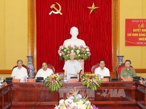 越共中央总书记首次进入中央公安党委 - ảnh 1