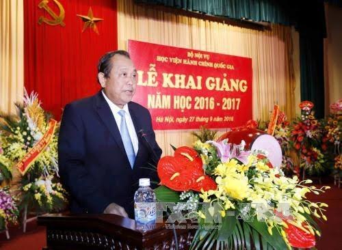 越南政府副总理张和平出席国家行政学院开学典礼 - ảnh 1