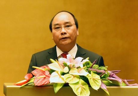 阮春福与韩国代总统兼总理黄教安互致贺电 - ảnh 1