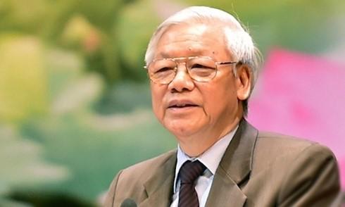 越共中央总书记阮富仲启程对中国进行正式访问 - ảnh 1