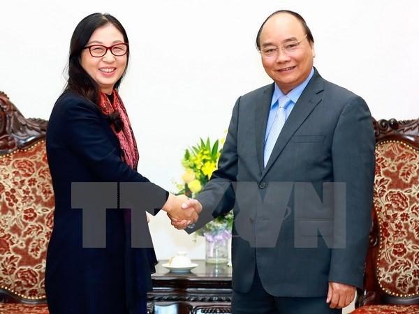 阮春福总理会见中国华为集团代表团 - ảnh 1