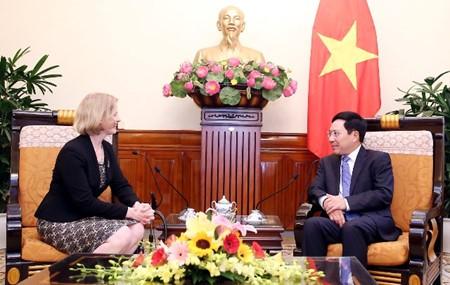 越南政府副总理兼外长范平明会见新西兰驻越大使马修斯 - ảnh 1