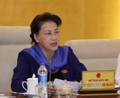 越南国会主席阮氏金银:国会将继续研究,完善为国立功者政策 - ảnh 1