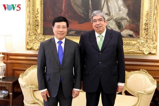 越南政府副总理兼外长范平明会见葡萄牙议会议长罗德里格斯 - ảnh 1