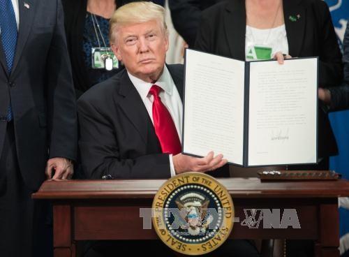 美国总统特朗普签署对俄罗斯、伊朗和朝鲜三国制裁法案 - ảnh 1