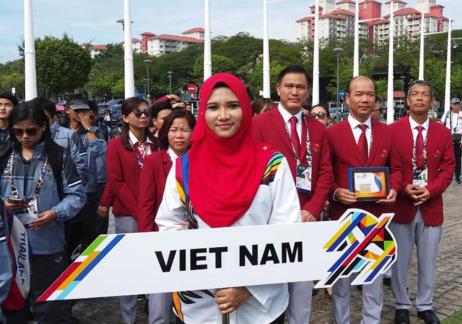 参加Sea Games 29的东南亚各国体育代表团的升国旗仪式举行 - ảnh 1