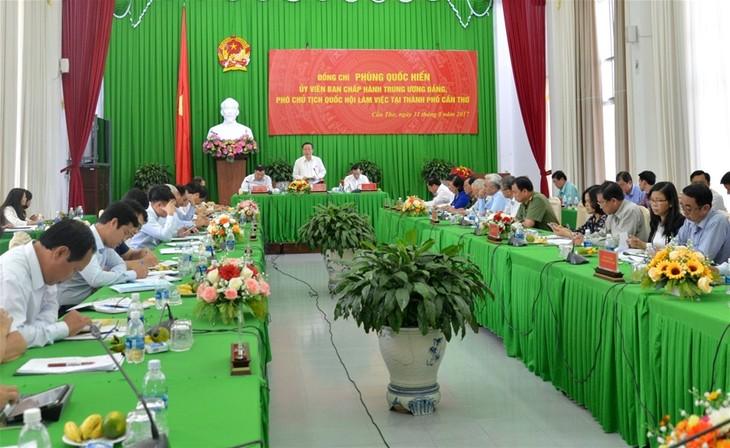 越南国会副主席冯国显:要加强九龙江平原地区的区域对接 - ảnh 1