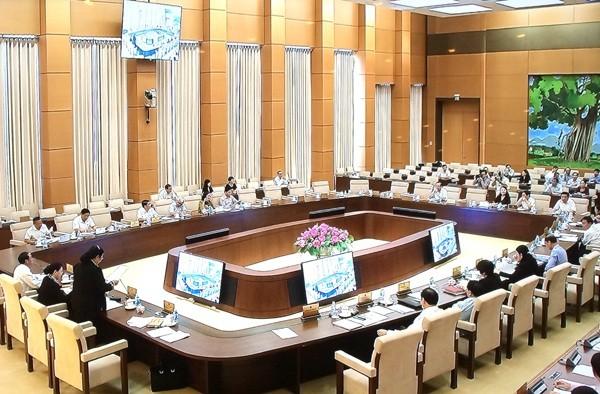 越南国会常委会向政府关于性别平等的国家目标实施情况报告提供意见 - ảnh 1