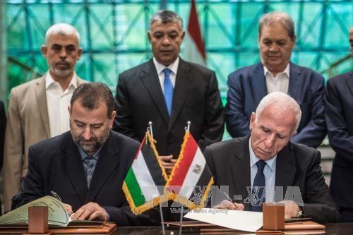 巴勒斯坦:法塔赫与哈马斯正式签署和解协议 - ảnh 1