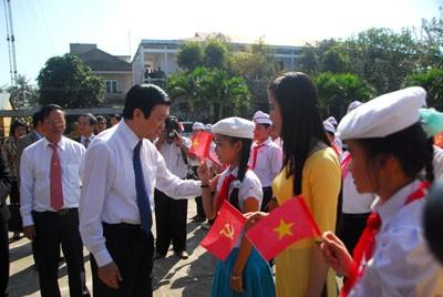 Staatspräsident Truong Tan Sang zu Gast in Quang Nam - ảnh 1