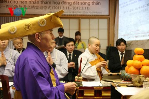 Vietnamesen in Japan beten für die Seelen der Tsunami-Opfer - ảnh 1