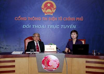 Umweltminister führt Online-Dialog - ảnh 1