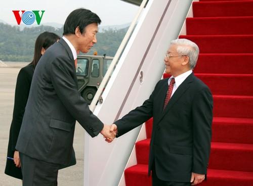 KPV-Generalsekretär Nguyen Phu Trong beginnt seine ersten Aktivitäten in Südkorea - ảnh 1