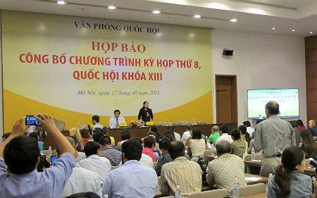 Pressekonferenz zur Veröffentlichung der Agenda für die kommende Parlamentssitzung - ảnh 1
