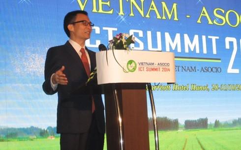 Eröffnung des hochrangigen IT-Forums Vietnam ASOCIO 2014 - ảnh 1