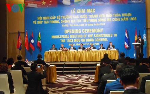 Länder der Mekong-Subregion arbeiten in der Drogen-Bekämpfung zusammen - ảnh 1