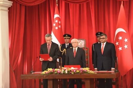 Neues Kabinett in Singapur vereidigt sich - ảnh 1