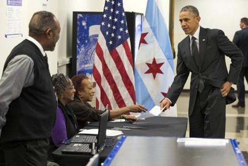 US-Wahlen 2016: Präsident Obama wählt frühzeitig - ảnh 1