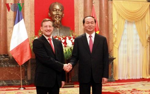 Staatspräsident Tran Dai Quang trifft neue Botschafter - ảnh 1