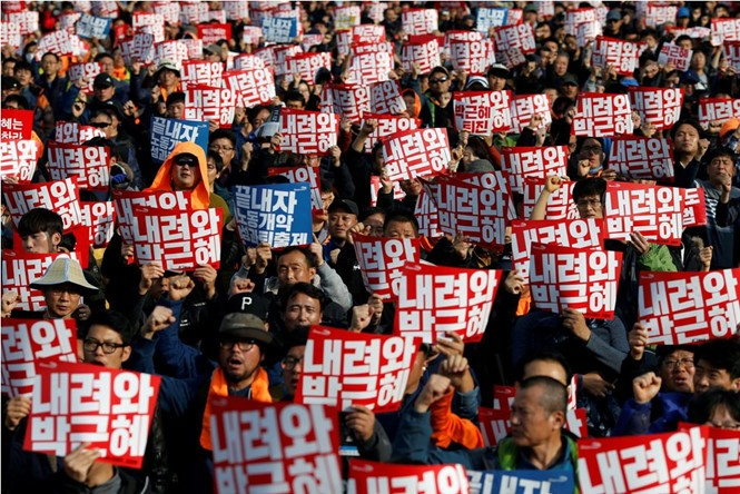 Südkoreas Regierung ruft Demonstranten zum Respekt der Gesetze auf - ảnh 1