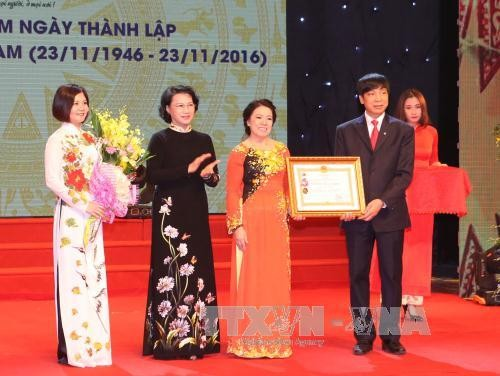 Parlamentspräsidentin nimmt an Feier zum 70. Gründungstag des Vietnamesischen Roten Kreuzes - ảnh 1