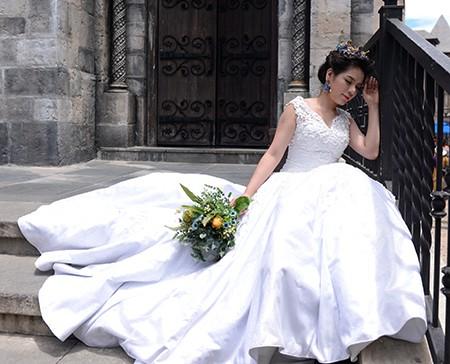 Romantisches Ba Na während der Hochzeitssaison - ảnh 4